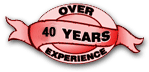 Over 40 Years Experience